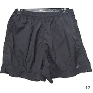 Nike Black Nylon Athletic Shorts Size L 12/14